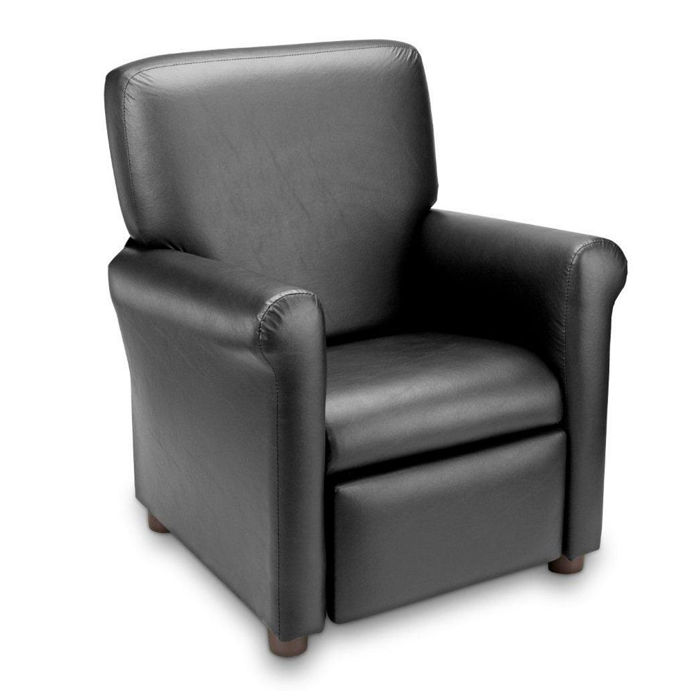 Ace Casual Furniture Black Vinyl Urban Juvenile Recliner