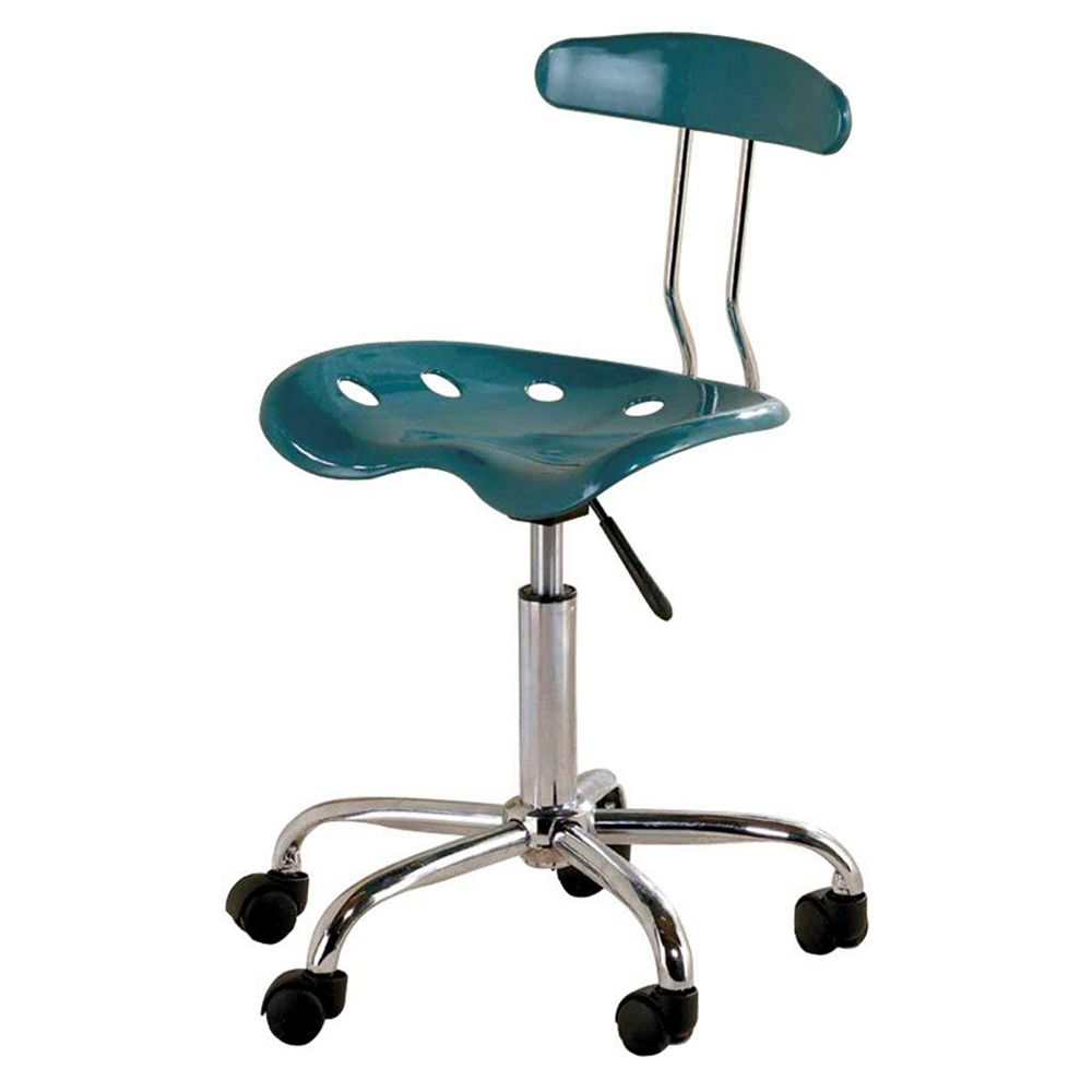 Ace Casual Furniture Tractor Seat Office Chair with Adjustable Height in Teal