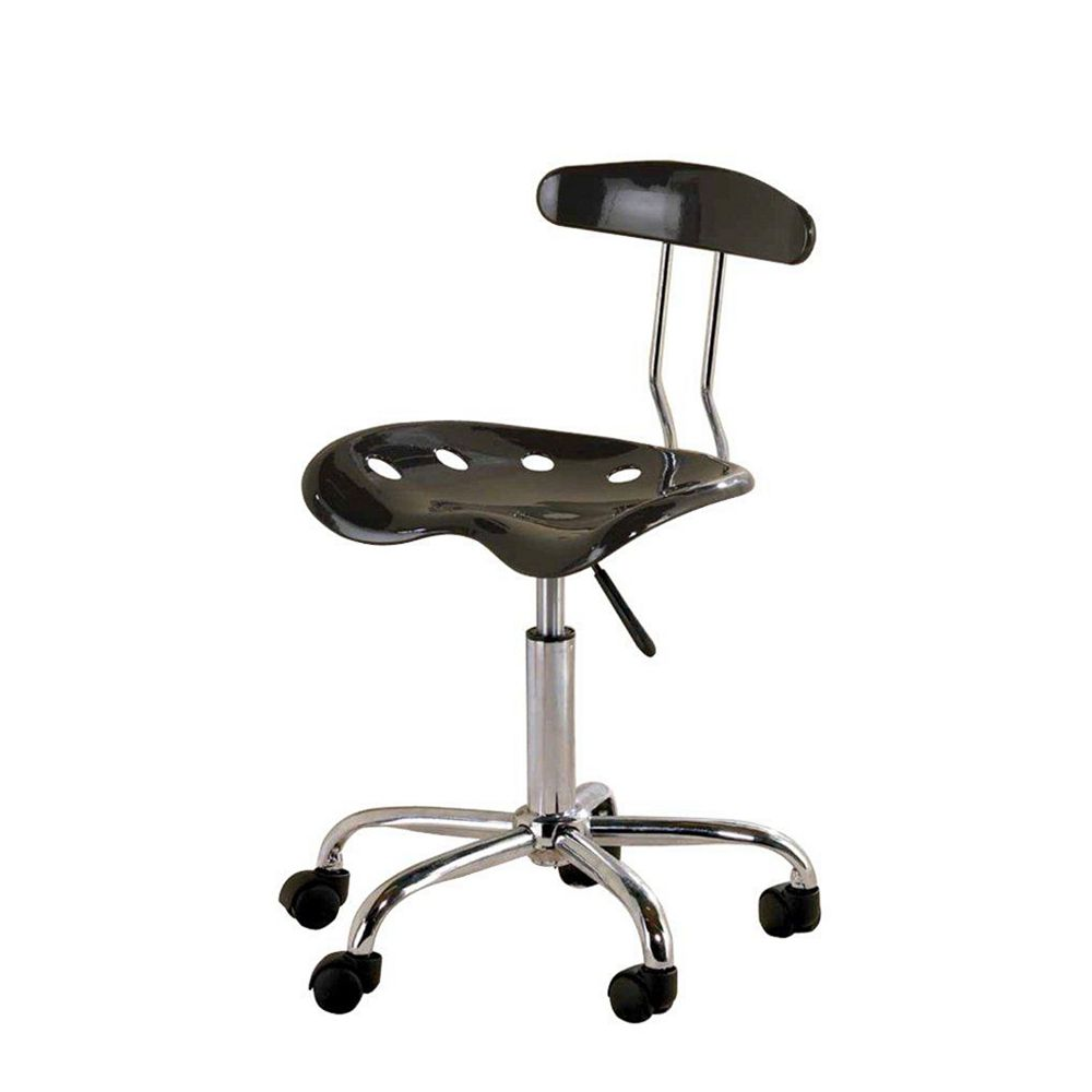Ace Casual Furniture Tractor Seat Office Chair with Adjustable Height in Black
