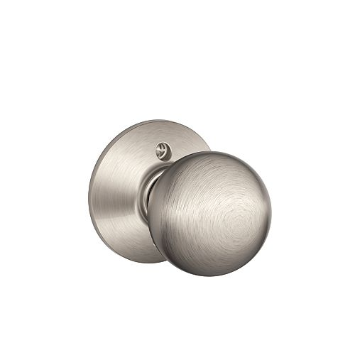 Schlage Orbit Satin Nickel Inactive Non-turning Lock Door Knob