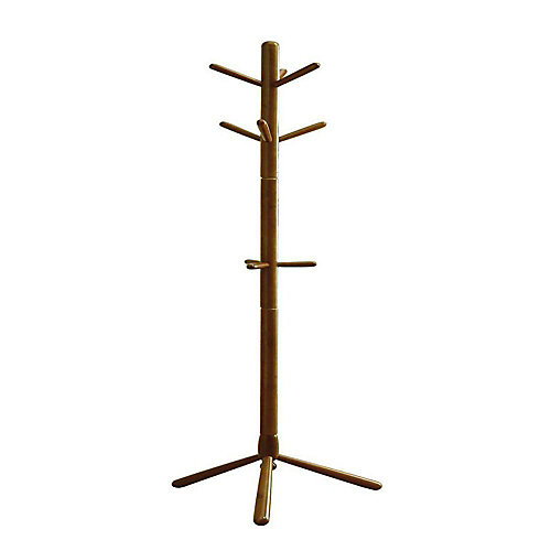 69-inch H Contemporary Wood Coat Rack in Oak