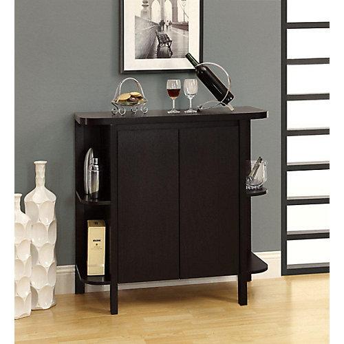 """Bar Maison - 36""""H / Cappuccino Avec Rangement"""