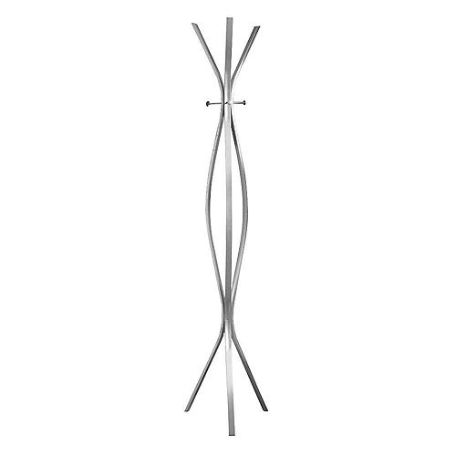 72-inch H Contemporary Metal Coat Rack in Silver