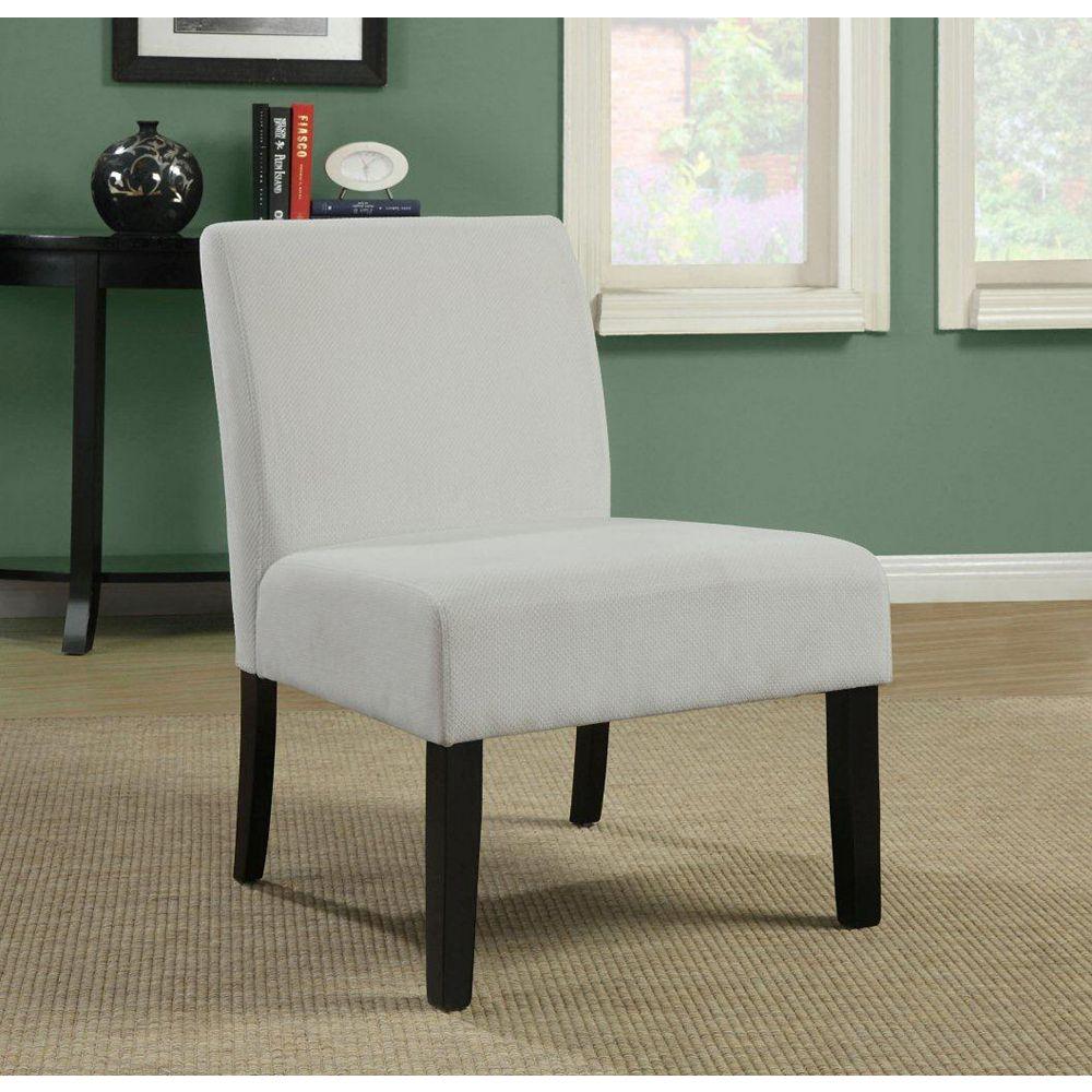 Monarch Specialties Beige Diamond Velvet Accent Chair