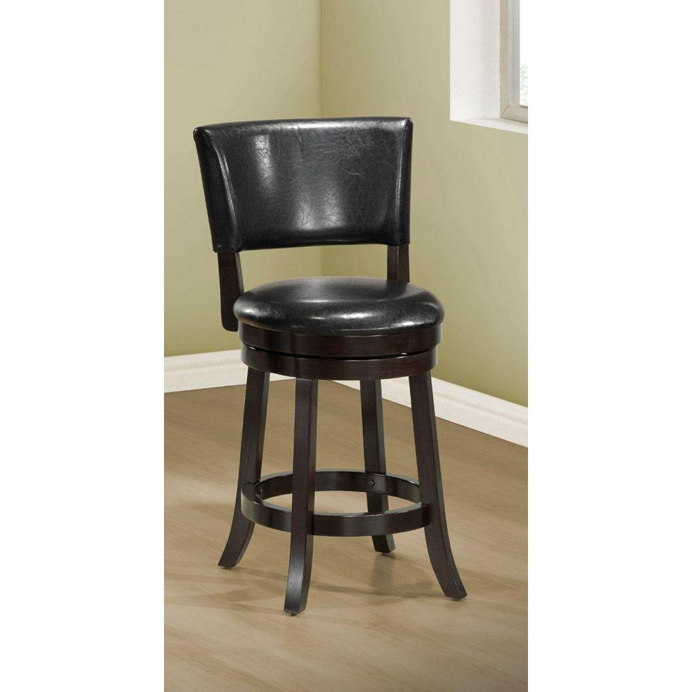 """Monarch Specialties Barstool 39""""""""H / Swivel / Black Counter Height (Set of 2)"""
