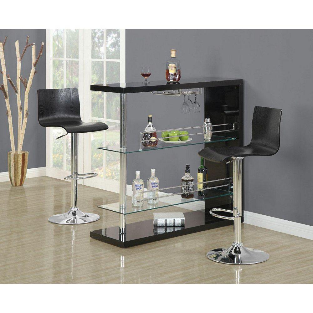 Monarch Specialties Tabouret de bar hydrolique metal noir bentwood/ 2 mcx