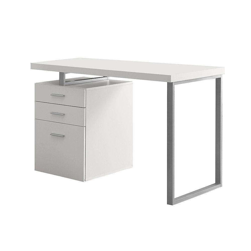 Monarch Specialties Computer Desk - 48 Inch L / White Left Or Right Facing