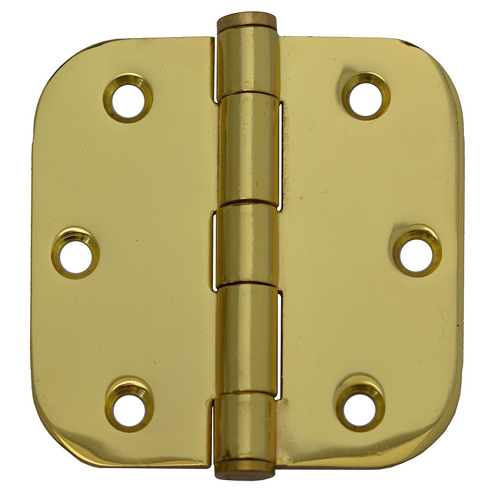 Everbilt 3-inch Solid Brass 5/8rd Door Hinge