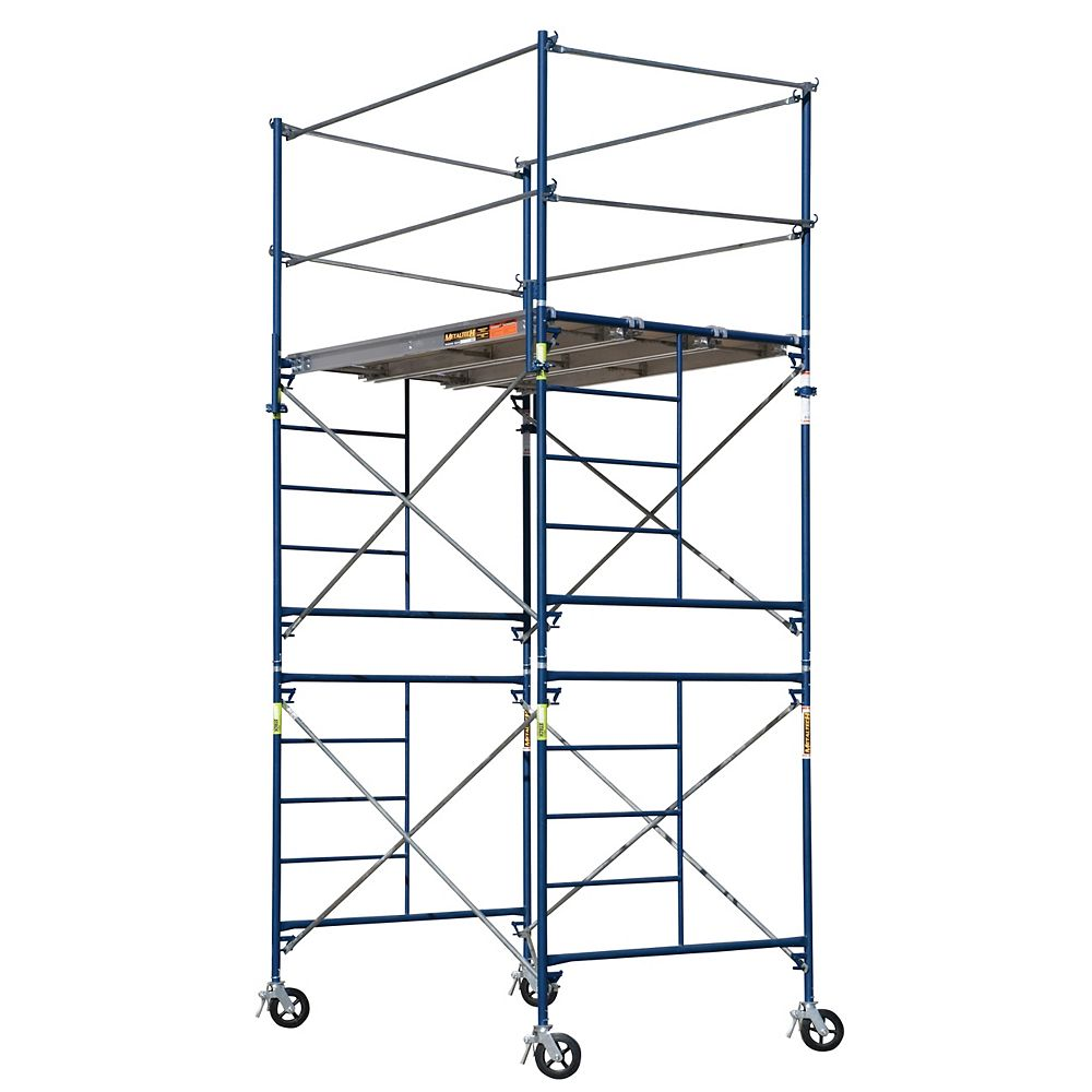 Metaltech Saferstack 10 ft. x 5 ft. x 7 ft. 2-Story Rolling Scaffold Tower