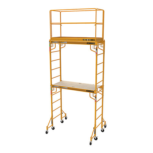 Complete 12 feet high Baker Style Scaffold tower, 1,000lbs capacity