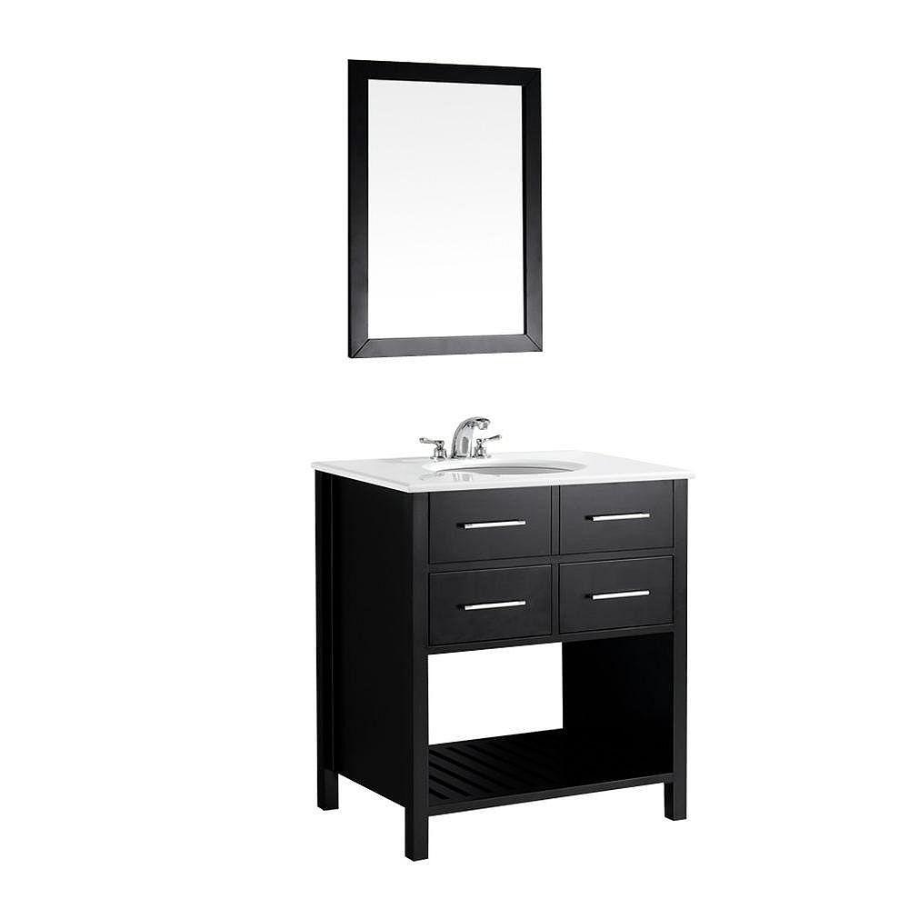 Simpli Home Soho 30-inch W 2-Drawer Vanity