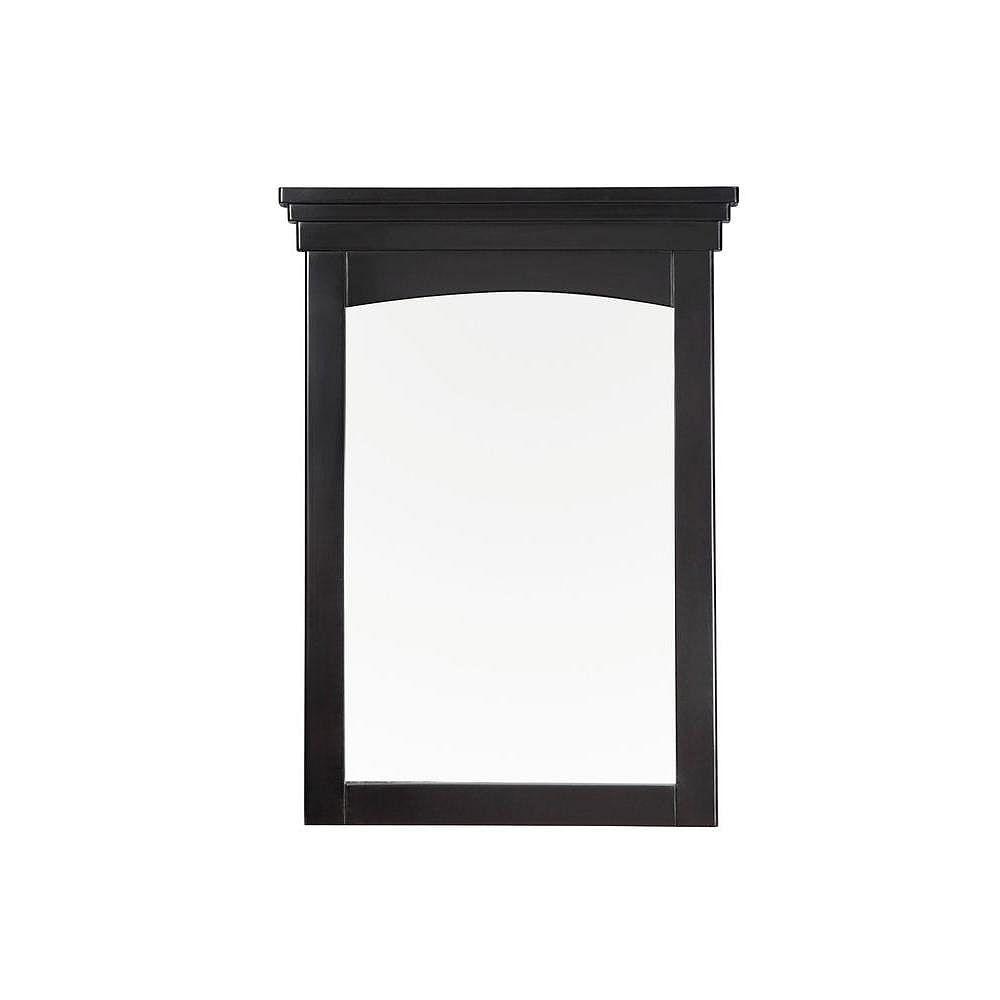 Simpli Home Orleans 30 Inch x 22 Inch  Black Vanity Mirror
