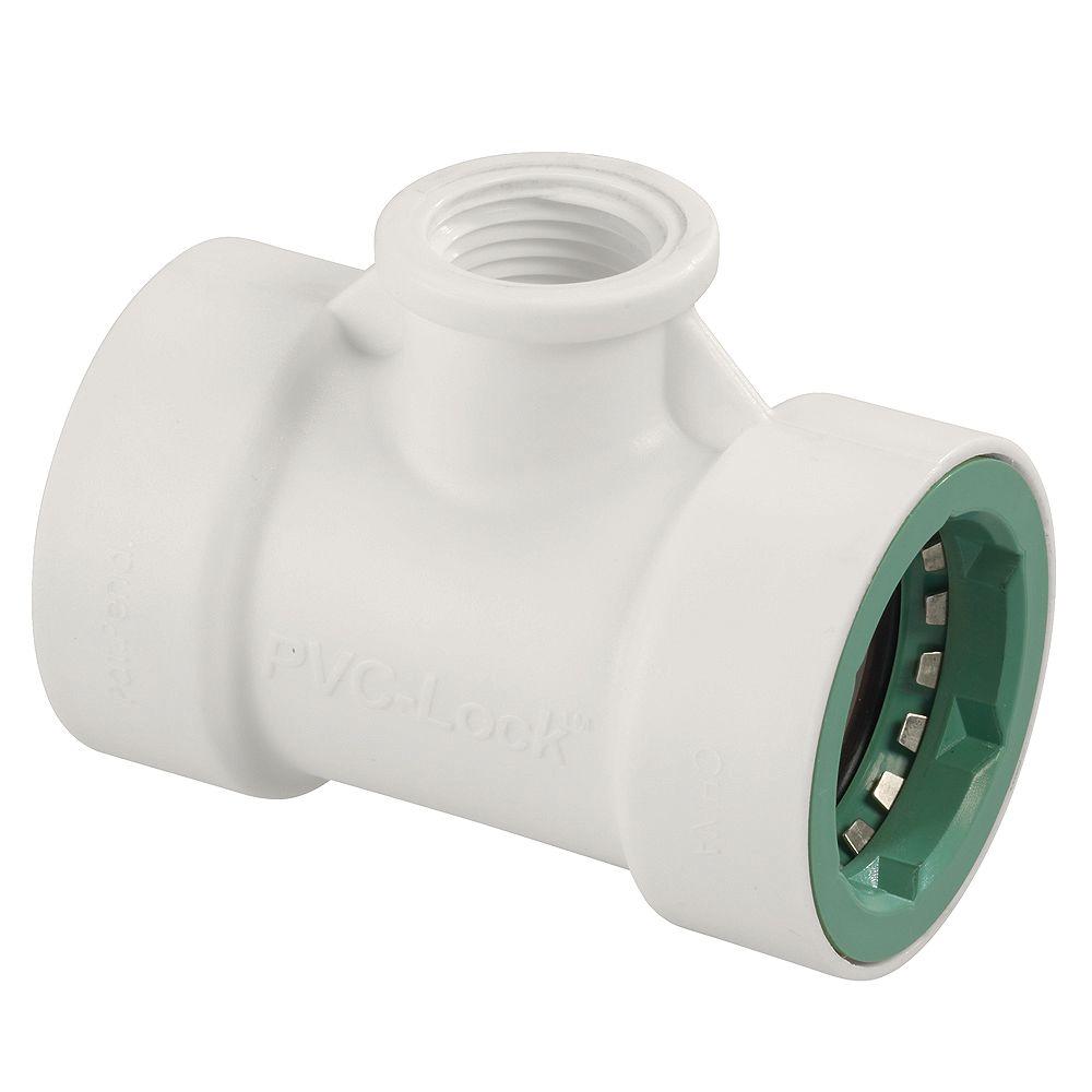 Orbit 1 Inch PVC-Lock x 1/2 Inch FPT Tee
