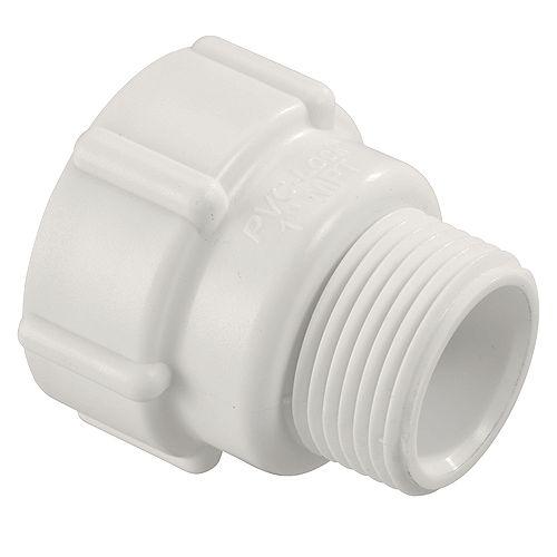 Orbit PVC-Lock<sup>®</sup> Adaptateur 2,5 cm pression x 2,5 cm MPT .