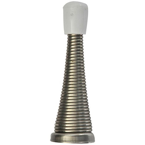 3-inch  Satin Nickel Spring Doorstop