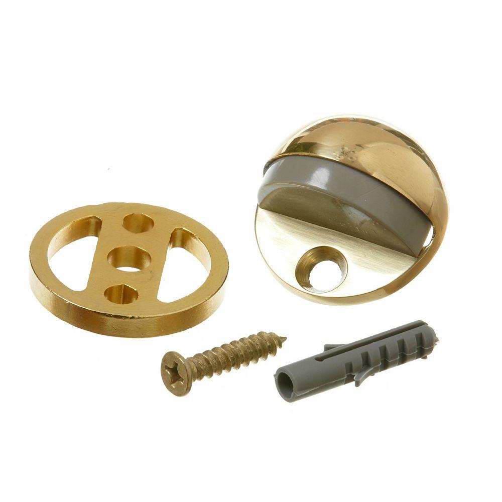 Everbilt Satin Brass Adjustable Floor Doorstop
