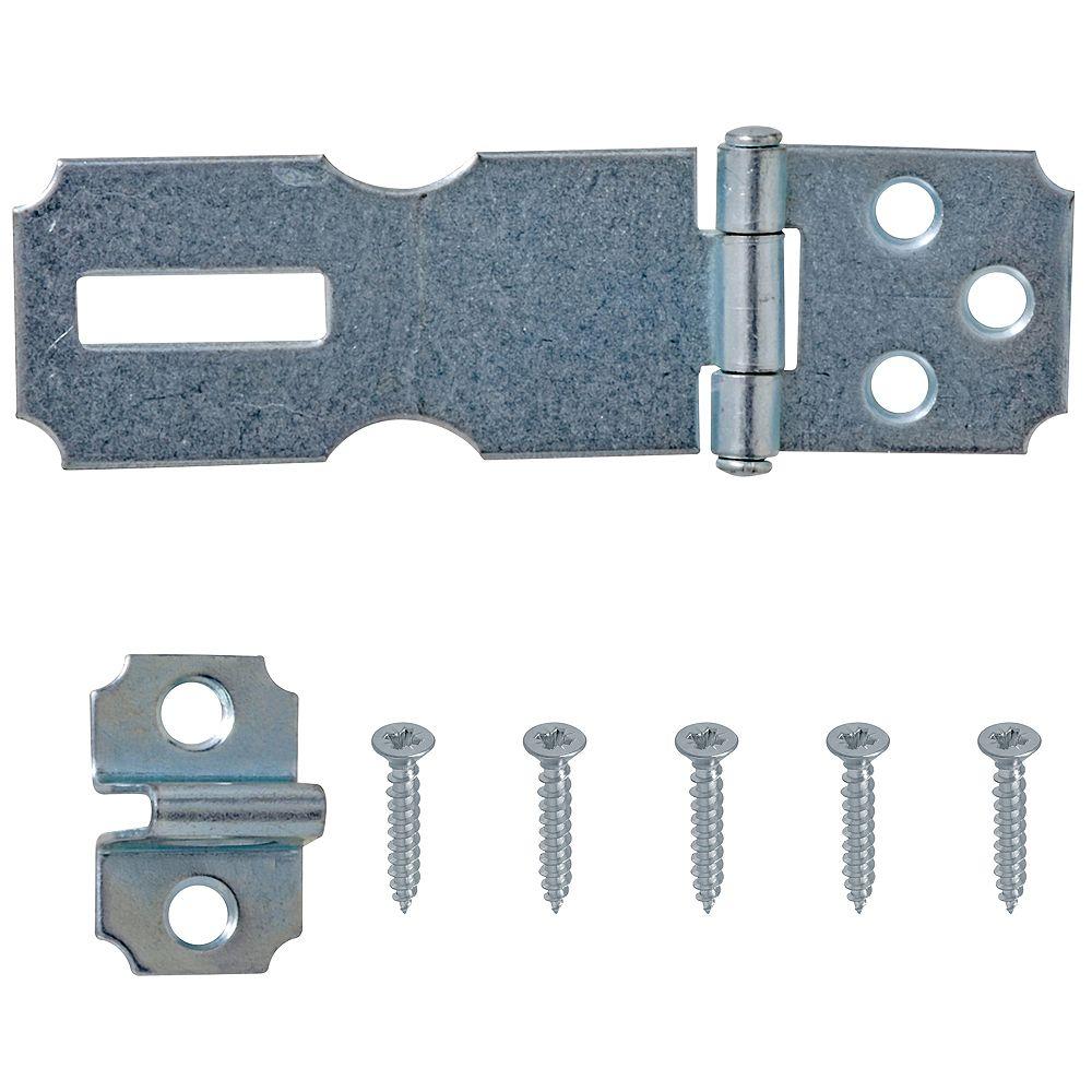 Everbilt 2-1/2-Inch Zinc Plated Hasp - 1pk