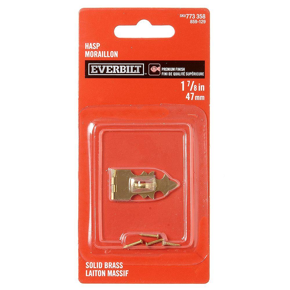 EVERBILT Everbilt 1-7/8 In Hasp, Solid Brass, 1pc