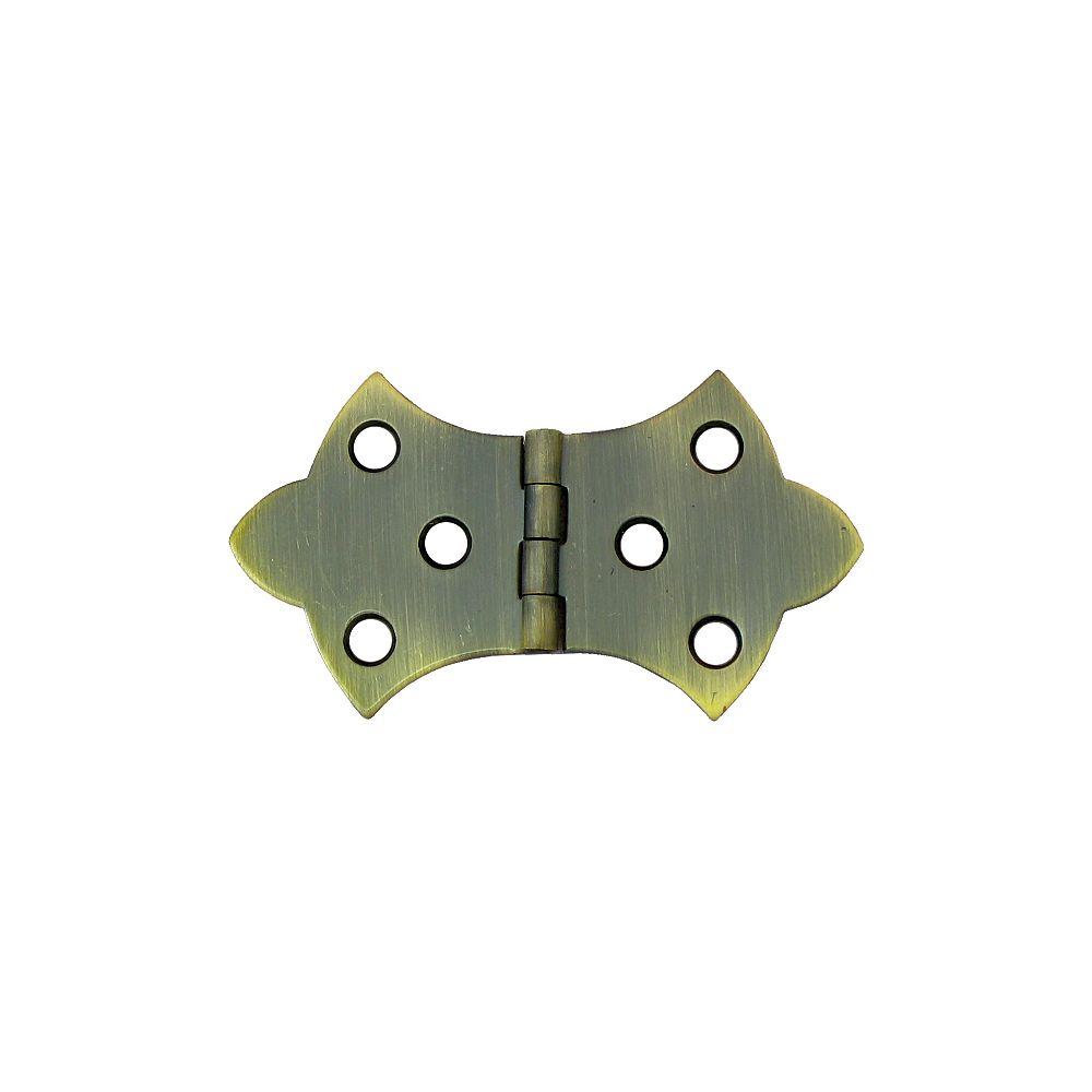 Everbilt 1-11/16 Inch Antique Brass Ornamental Hinge (2-Pack)