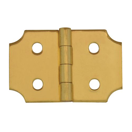 1 Inch Solid Brass Ornamental Hinge (2-Pack)