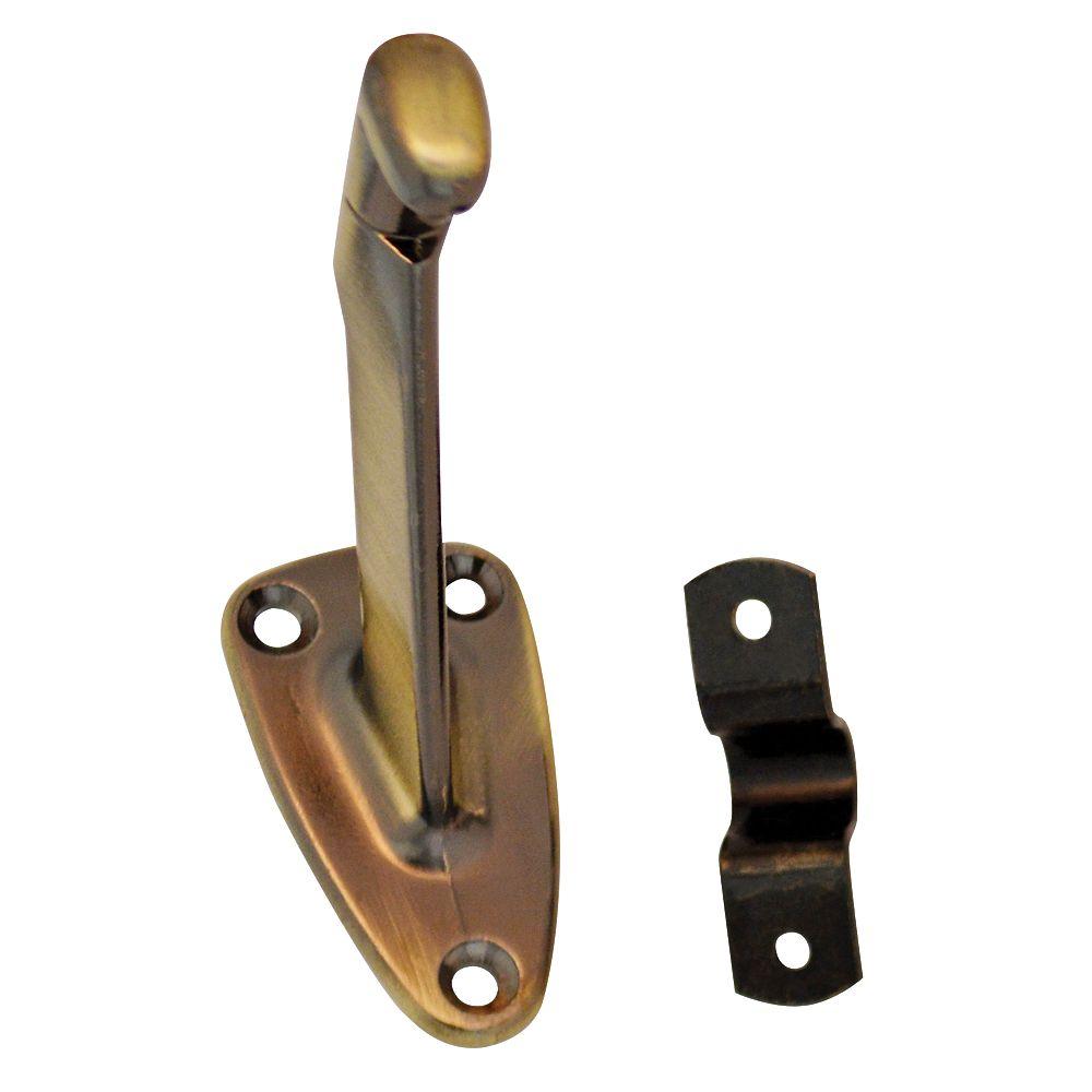 Everbilt Long Antique Brass Handrail Bracket