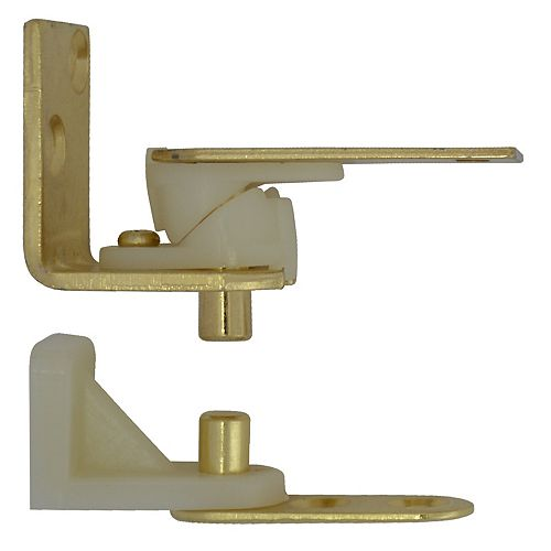 Everbilt Satin Brass Café Door Pivot