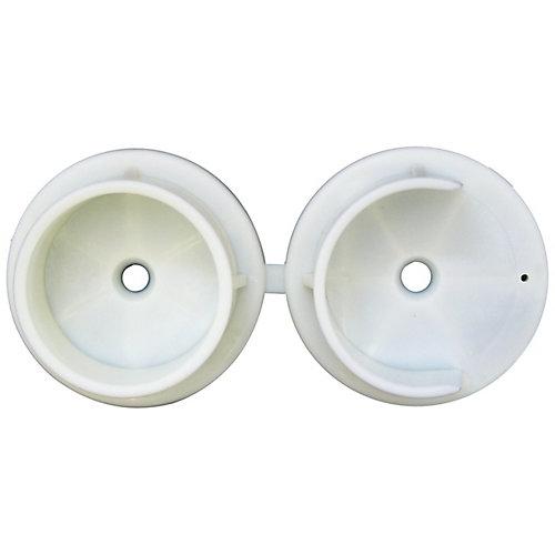 """Douilles de tringle de Penderie 1-3/8"""" plastique 2MCX"""