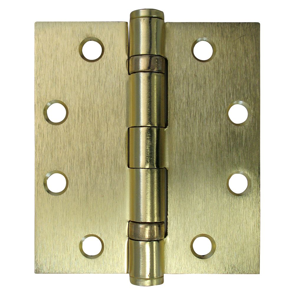 Everbilt 4-1/2-in x 4-in Satin Brass Ball Bearing Commercial Hinge,1pc