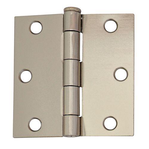 Everbilt 3-inch Bright Nickel Door Hinge (2-Pack)