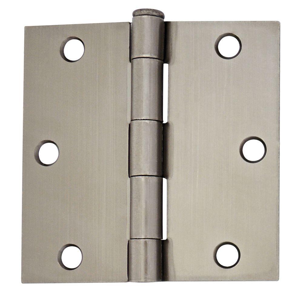 Everbilt 3 1/2-inch Pewter Door Hinge (2-Pack)