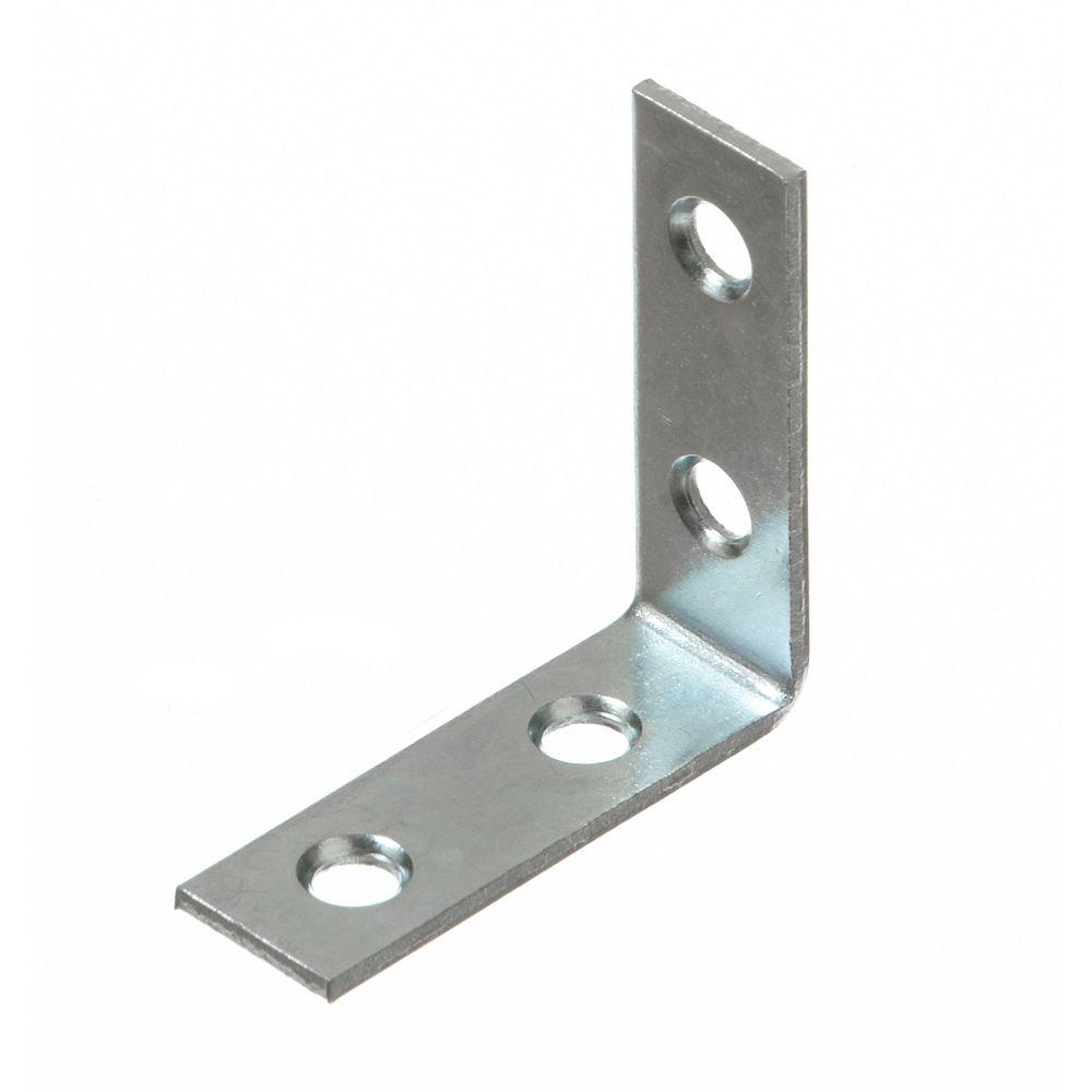 Everbilt 1-1/2 Inch Zinc Corner Brace (4-Pack)