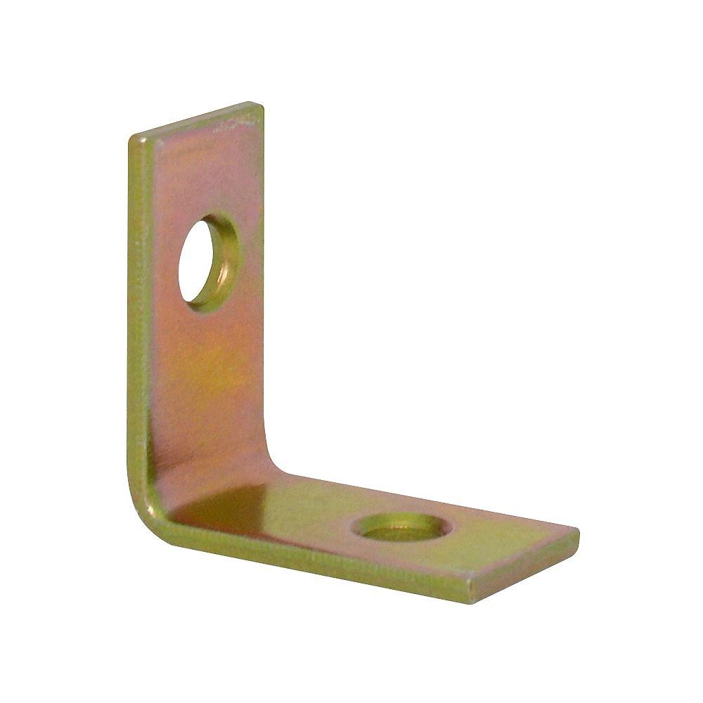 Everbilt 1 Inch Brass Corner Brace (4-Pack)