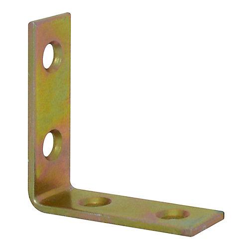 1-1/2 Inch Brass Corner Brace (4-Pack)