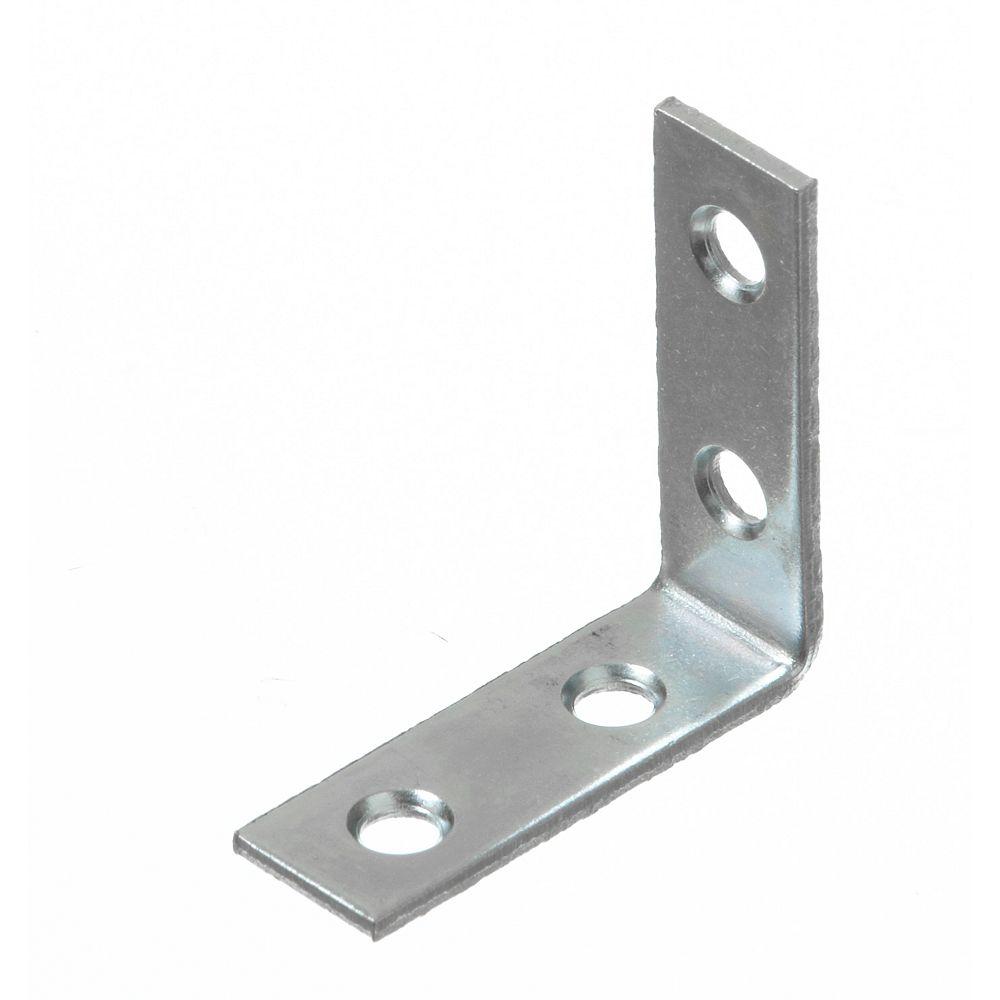 Everbilt 1-1/2 Inch Zinc Corner Brace (80-Pack)