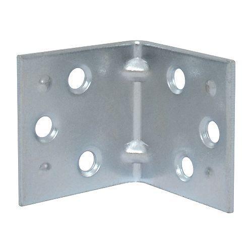 1-1/2 Inch Zinc Double Wide Corner Brace (2-Pack)
