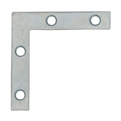 Everbilt 2 Inch Zinc Flat Corner Brace (4-Pack)