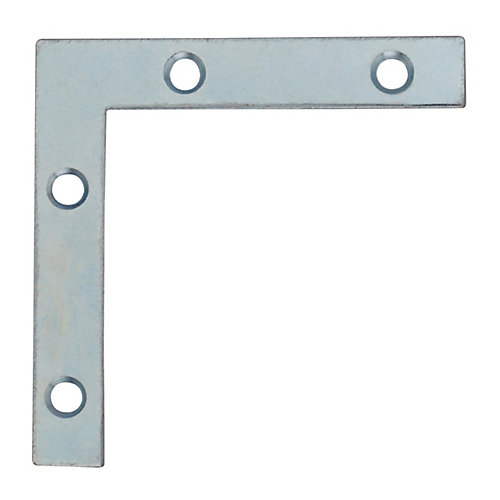 2-1/2 Inch Zinc Flat Corner Brace (4-Pack)
