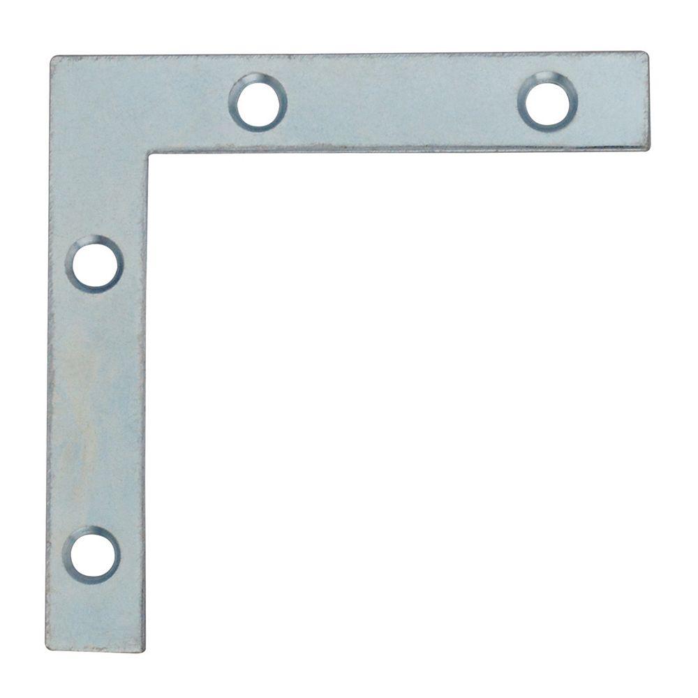 Everbilt 2-1/2 Inch Zinc Flat Corner Brace (4-Pack)