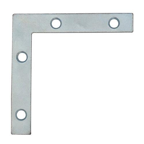 3 Inch Zinc Flat Corner Brace (4-Pack)
