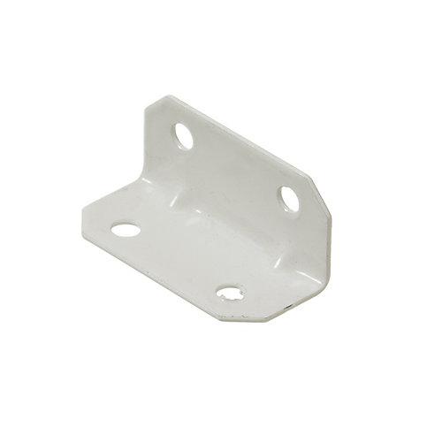 3/4 Inch X1-3/4 Inch White Furniture Brace (4-Pack)