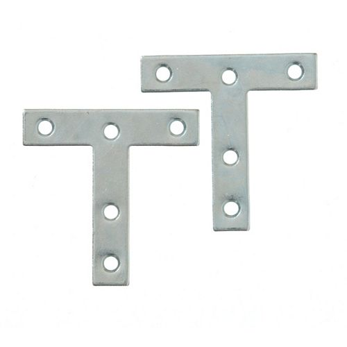 3 Inch Zinc T-Plate (2-Pack)