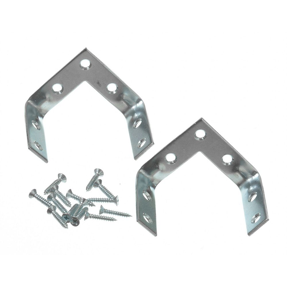 Everbilt 2 Inch Zinc Triple Corner Brace (2-Pack)