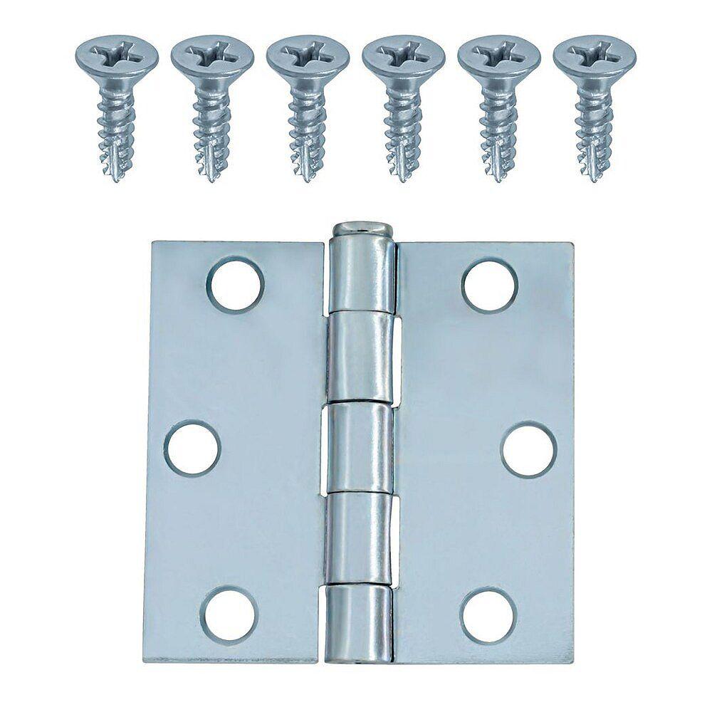 Everbilt Charnière large d'armoire plaquée zinc 2-1/2 po, 1pc