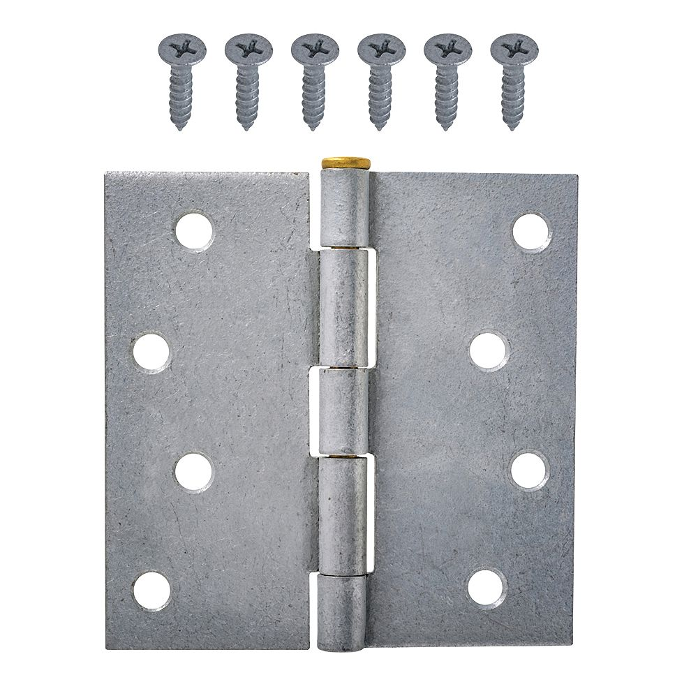 Everbilt 4-Inch Galvanized Superior Rust Resistant Broad Hinge with Brass Pin - 1pk
