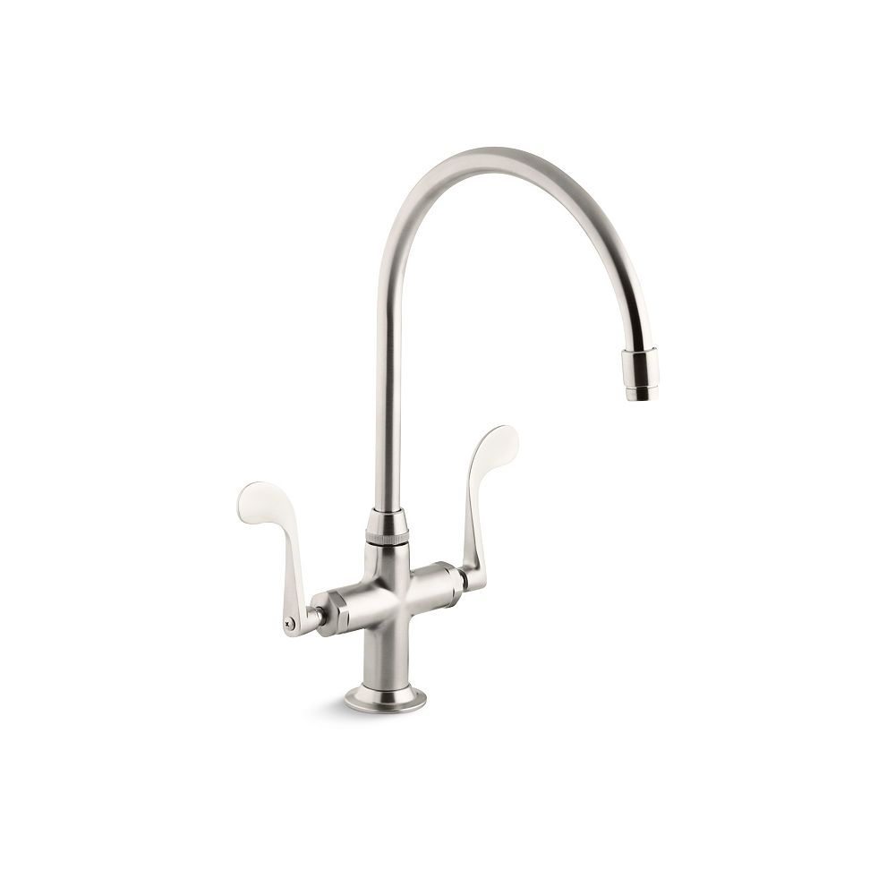 KOHLER Essex Two-Handle Sink Faucet With Wristblade Handles