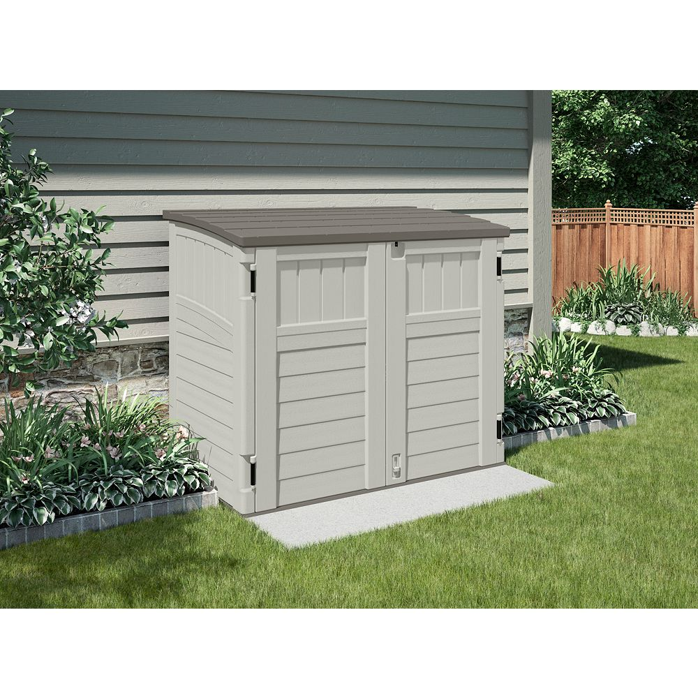 Suncast Blow-Molded Horizontal Utility Shed - (34 Cu.Ft.)