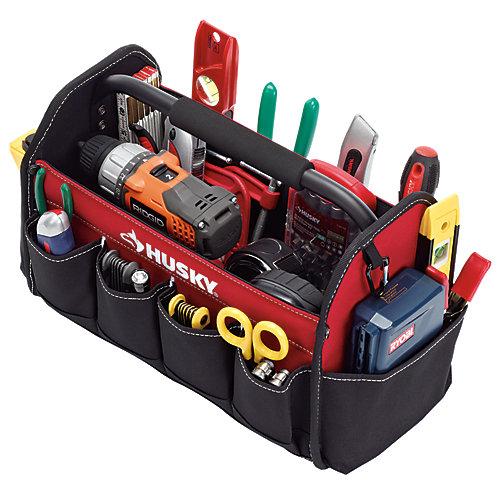 Fourre-tout à outils ouvert, 15po