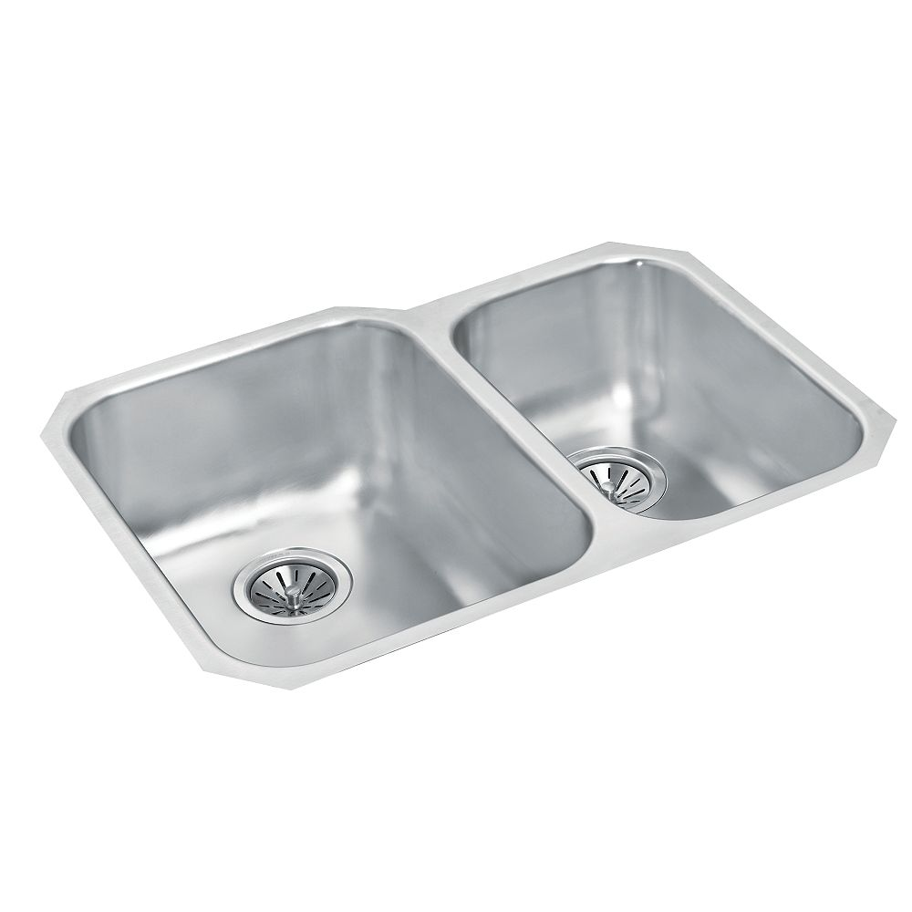 Wessan Stainless Steel One and Three-Quarters Bowl Undermount Sink