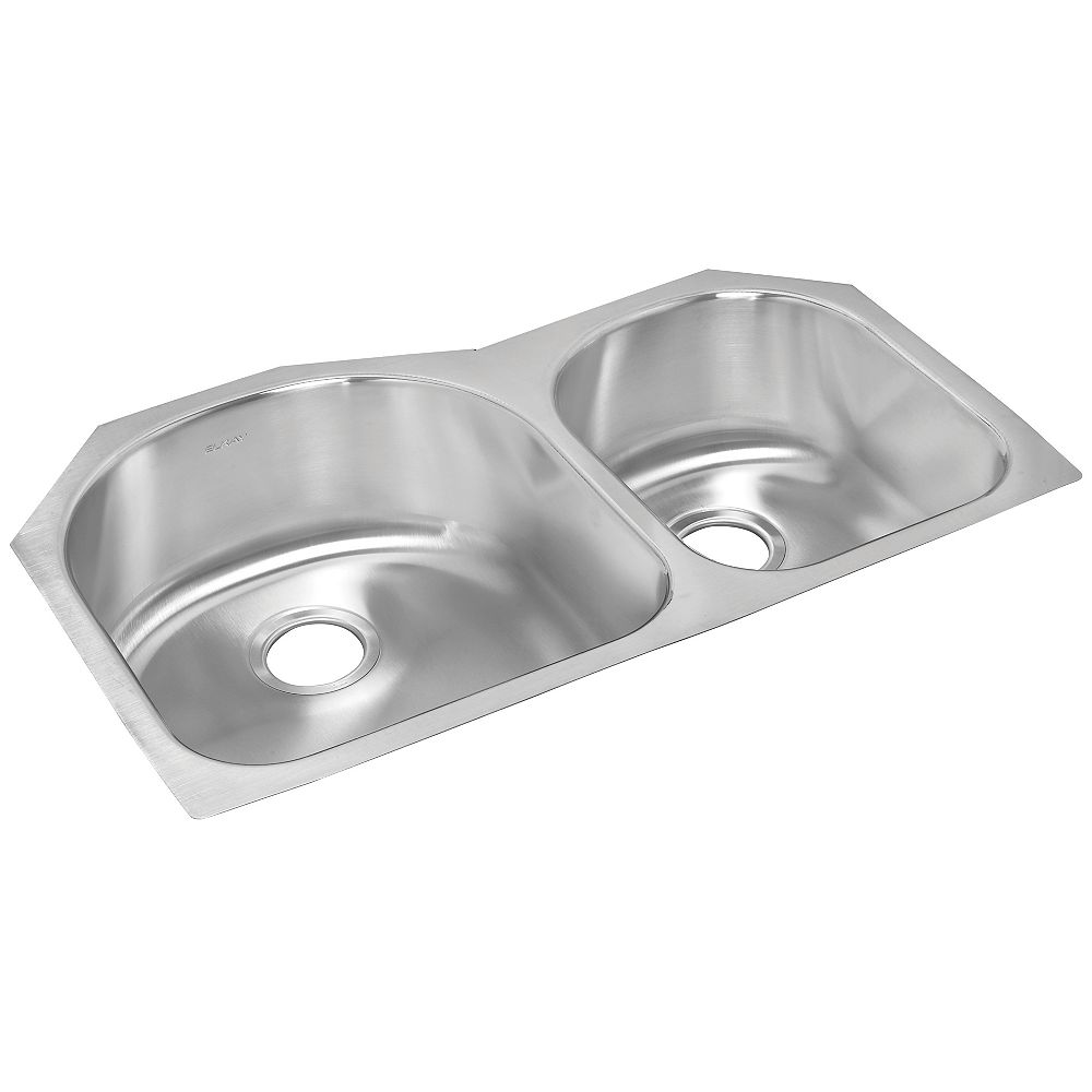 Wessan One and a Half Bowl Undermount - 20 Inch x 31.25 Inch x 8 deep