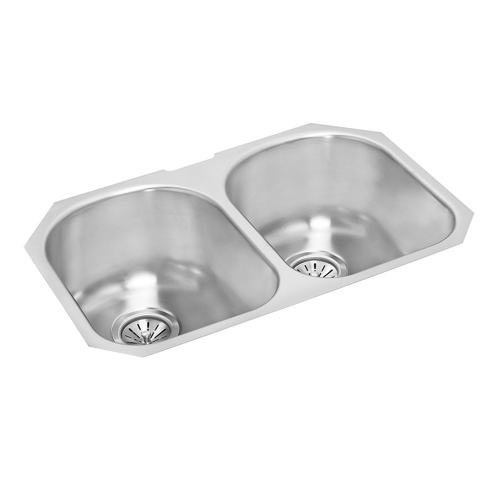 Wessan Double Bowl Undermount - 26.25 Inch x 17 Inch x 8 deep